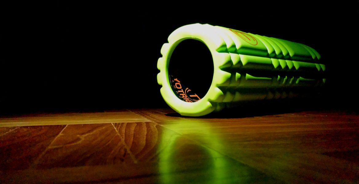 Green Textured Foam Roller